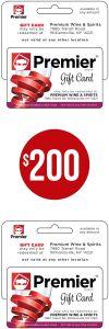 Gift card: $200.00
