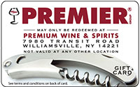 Premium Wine & Spirits Gift Cards